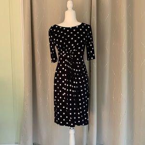 Connect Apparel Faux Wrap Side Bunch Dress